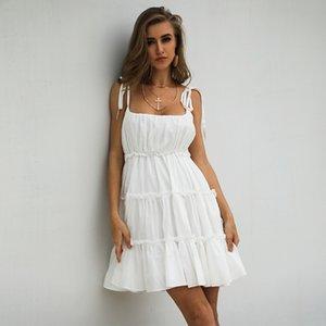 Summer Women Dresses 2020 Spaghetti Backless Short Skirt Girls Prom Party Gown vestidos de cóctel sukienki koktajlowe Cheap In Stock