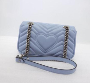 2020 haute chaîne de qualité Femmes Mode Argent Marmont de luxe de sacs en cuir Sac à bandoulière Sacs à dos Sac à bandoulière