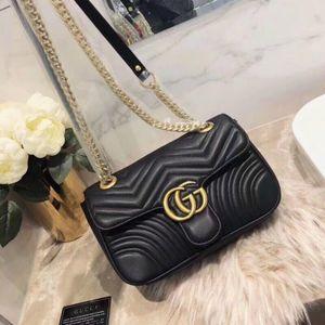 2019 New Fashion Shoulder Bags Chain Men's and Women's Classic Handbags PU High Quality Crossbody Bags Hot Sale 1A06