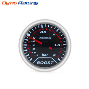 "Boost göstergesi 2"" (52mm) Duman mercek Turbo göstergesi Boost göstergesi (-1 ~ 2 Bar) / otomatik araba göstergesi / araç metre"