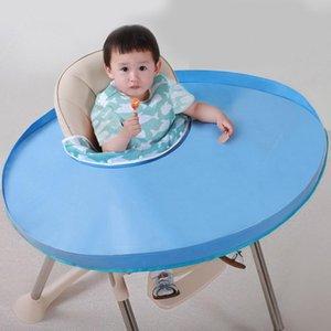 Portable Baby Chair Padded Tablecloth Anti-dirty Folding Table-eating Pad Anti-wear Bib Children Feeding Saucer Chair