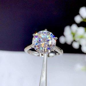 5ct anneau Moissanite, 925 design de mode Argent, forte couleur du feu, le diamant, la dureté élevée