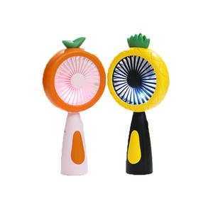 Portable USB Small Fan Silent Version Summer Cool Mini Fan a Must-have Handheld Fan Cartoon Fruit Style with Lamplight T3I5810