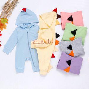 New Baby Romper Jumpsuit Multicolor Zipper Baby Jumpsuits Cute Dinosaur Climbing Suit Super Cute Bodysuit Free Shipping