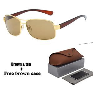 Yüksek kalite Marka tasarımcı güneş gözlüğü erkekler kadınlar için Alaşım Çerçeve uv400 Lens Klasik Spor Sürüş güneş gözlükleri Perakende kutusu ve ...
