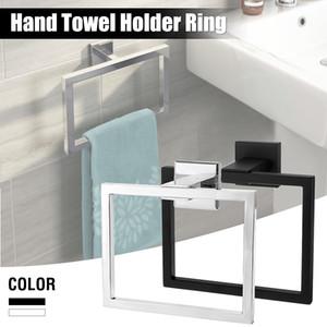 Xueqin 304 Paslanmaz Çelik Kare Havlu Halka Tutucu Banyo Duvar Havlu Askı ACC121 Y200407 için Towel Rack Monteli