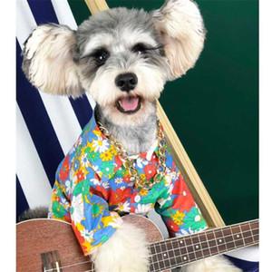 Impreso para mascotas flora Personalidad camisas Hip Hop clásico encanto t-shirts Verano último patrón del Schnauzer de peluche ropa