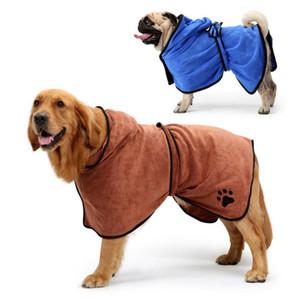 Dog-XL XS Peignoir de chien Serviette de bain pour Petit Moyen Grand Chiens Microfibre super Absorbant Pet sèche-serviettes