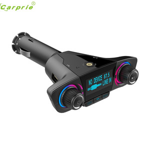 CARPRIE Bluetooth Kablosuz Araç Mp3 Player Ahizesiz Araç Kiti FM Verici A2DP 2.1A USB Şarj LED Ekran FM Modülatör