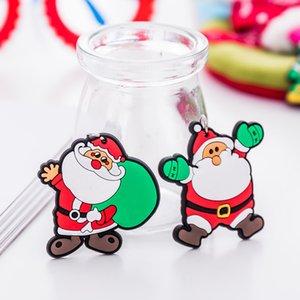 Chaveiro Versão do casal homens dos desenhos animados anel presente santa bonito e mulheres chave claus pingente Natal os novos ornamentos rfgkk