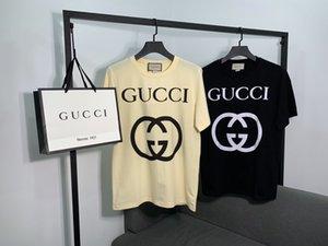 2020 neue Frauen-T-Shirt Designer-Marke Trend Mode Rundhals atmungsaktiv 100% gekämmter Baumwolle klassischen Druckwerk wilde T-Shirts