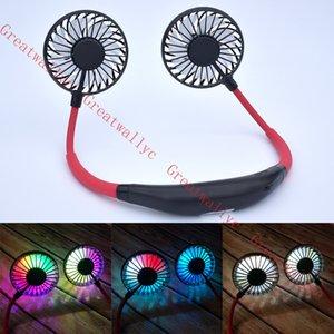 Складная шейным Мини-вентилятор охлаждения USB вентилятор светодиодный шеи шеи для кемпинга Спорт, Туризм лучший подарок детские летние охладитель новый товар