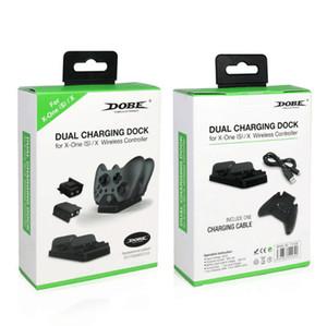 무선 듀얼 스테이션 무료 배송 충전 XBOX ONE 최저 듀얼에 대한 독 컨트롤러 충전기 2 개 충전식 배터리 충전