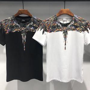 2019 envío gratis ropa de hombre ropa de algodón camiseta nueva venta impresa camiseta de manga corta M169 de los hombres