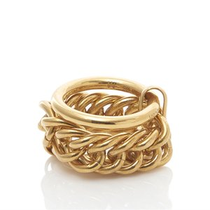 Hip Hop Ambush Ring Unique New Lock Chain Three-Ring Rings Men Women Japan and South Korea European American INS Trend Jewelry