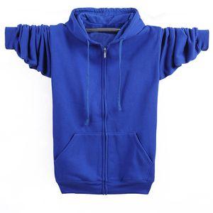 Men's Hoodies & Sweatshirts MFERLIER Winter Autumn Men 5XL 6XL 7XL 8XL Plus Size Weight 135kg Loose Long Sleeve 5 Colors