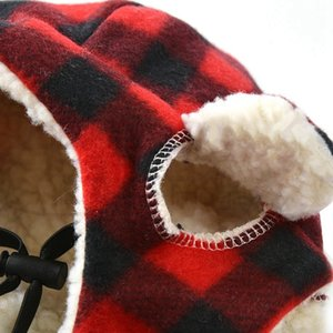 Winter Warm Dog Hats Red Plaid Fashion Pet Dog Cat Warm Cats For Cold Weather Pet Grooming Costume Accessories