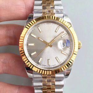 Top Fashion Luxus Herren-Uhr DATEJUST m126333 Silber 40MM Saphir Zifferblatt aus Edelstahl Jubilee-Bügel-automatische mechanische Armbanduhr