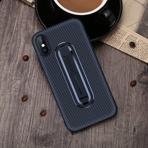 The New Huawei mobile phone shell carbon fiber invisible bracket TPU anti-fall soft shell for P20 P10 mate20X mate20pro phone case