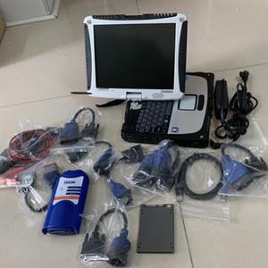 strumento diagnostico NEXIQ USB di collegamento del camion NEXIQ 125032 USB di collegamento Heavy Duty Truck Scanner NEXIQ 125032 NEXIQ-USB SSD collegamento con touch computer portatile CF19