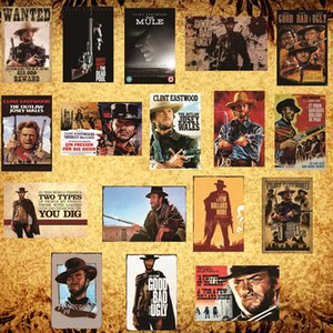 Clint Eastwood western movie vintage tin poster Metal Signs Plaques Man Cave, Cool Novelty Gift, Bar Pub DH008