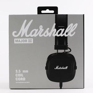 Marshall Auscultadores major III 3,0 fios dobrável Orelha auriculares sobre o jogo com controle de volume Microfone