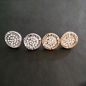 Designer Ohrringe Frauen Ohrringe runde Kristallknöpfe Luxus Rose Gold Silber Ohrring Frauen earing Ohrring-Dame Girl Stud Hochzeit Schmuck