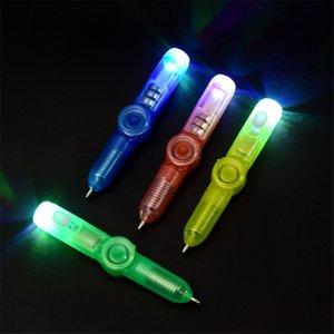 2 В 1 Light Combo Творческий Invisible Ink Pen Glow Baby Дети Новая магия Гироскоп Pen Популярные Случайные цвета Детские игрушки
