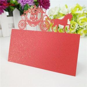 50 pezzi tagliati al laser con nome vuoto segnaposto per matrimonio classico carrozza nome ospite carta per posto di nozze forniture per feste di matrimonio 7zsh868-50