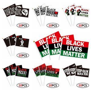 14 * 21см Я не могу дышать Parade Banner Flag Black Lives Matter Джордж Floyd Американский ПАРАД Flags Black Протест Banner 10шт / серия RRA3151
