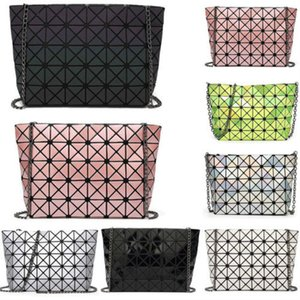2018 Mulheres Moda de venda Geometric Rhombus Malha Laser Bolsa Bolsas Ladies bolsa de ombro sacos de viagem Organizador de caso