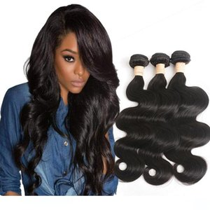 A Indian Virgin Hair Products Natural Color 30 -40 Inch Remy Hair Weaves 3 Pieces One Lot Body Wave 30 &Quot ;-40 &Quot ;Long Hair Inch