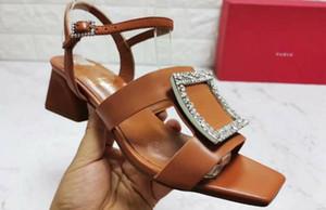5A Frauen 6709210 Bikiviv 'Sandale Pantoffeln, Obermaterial Leder, Knöchelriemen Metallschnalle, Laufsohle Leder, Größe 34-42, DHL geben Verschiffen frei