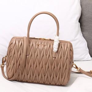 Casual Bolsas Plain Lady Big Tote Crossbody bolsas de couro de carneiro clássico Jacquard removível Alça cluth Bag