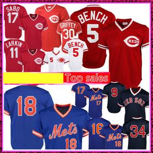 5 개 조니 벤치 11 배리 라킨 데릴 딸기 뉴저지 18 17 9 헤르 테드 윌리엄스 34 오티즈 유니폼