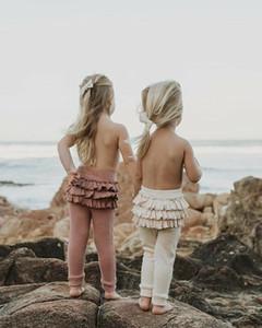 Recém-nascido Crianças Baby Girl Inverno Leggings quentes Casual Ruffle Sweety cintura alta calças de algodão elástico macio Pant Long Outono Inverno