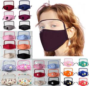 Maschere Notizie cotone faccia con Breath schermo Valve PM2.5 Shield Mask Anti-Polvere di tessuto per adulti / bambini Maschera lavabile fumetto dei capretti maschera con filtro