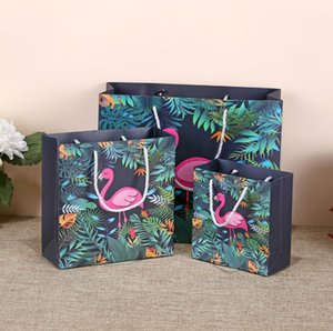 2019 New 14*15*7cm Firebird gift packing paper bag with handle Cosmetic bag Clothing gift packaging shopping handle bag