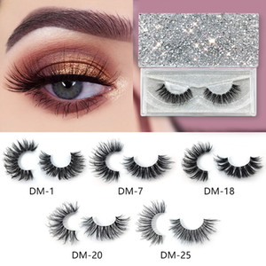 3D Mink Eyelashes Natural False Eyelashes Long Eyelash Extension Faux Fake Eye Lashes Makeup Tools With Box RRA1305