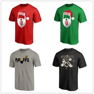 Erkek Vegas Altın Şövalyeleri Fanatics Markalı Jolly Tişört Kırmızı Kelly Yeşil Buz Hokeyi Birincil Logo açık Kısa kollu Üniforma Gömlek Logo