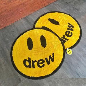 Creatività Drew House Justin Bieber Home Series Smiley Carpet Flash limitata rotonda Tide Carta Decoration Tappetino idea creativa