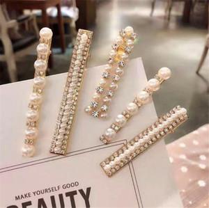 1 Set perla forcine clip di modo dolce perla capelli per le donne Headwear ragazze Barrettes dei capelli del bastone Pins Accessori