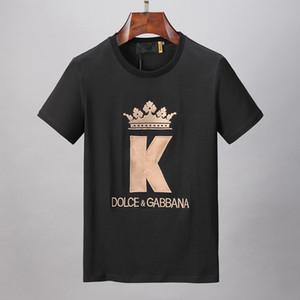 mens 2020 abiti di design di lusso di lusso Designers alfabeto stampa magliette modelli classici in cotone uomini e le donne della moda maglietta maglietta