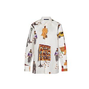2019 Новые Ходоки ДНК Рубашки Мужские Дизайнерские Рубашки Рубашки Fit С Длинным Рукавом Мужчины Рабочие Рубашки Вскользь Paris Print Марка Одежды Рубашки