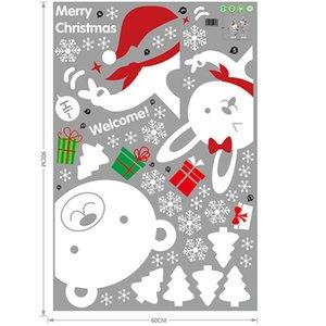 Colgando de la ventana del muñeco de nieve etiqueta engomada del regalo de Navidad casera del PVC pared del dormitorio de nuevo suelo HUG-Deals
