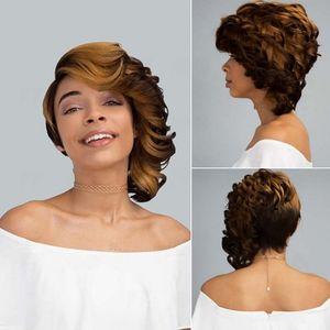 полные парики шнурка трахает черный волнистый длинный вьющийся парик головного убора естественного вида волос бесклеевого кружево фронт парик Wi для европейской и американского парика женщины