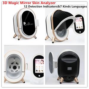 Пятое поколение Magic Mirror Intelligent 3D Skin Image Analysis Machine 20 миллионов пикселей 12 Индикатор обнаружения кожи Диагностика системы
