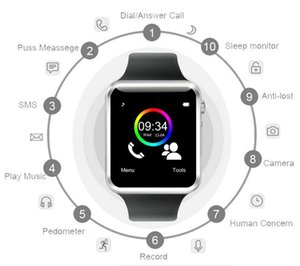 A1 watch Bluetooth Smart Watch with SIM Card Slot Android Watchs for Samsung and IOS Apple iphone Smartphone Bracelet Smartwatch