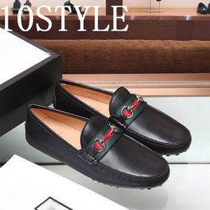 19FS Men Shoes genuine Leather Man moccaisns fashion breathable dlip on Casual Mens Shoe Loafer Driving Loffers Hombre Shoes men US6-12