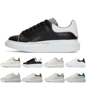 Scarpe firmate della nuova stagione Moda Scarpe da donna di lusso Scarpe da uomo in pelle con lacci Piattaforma Sneakers con suola oversize Scarpe casual bianche nere